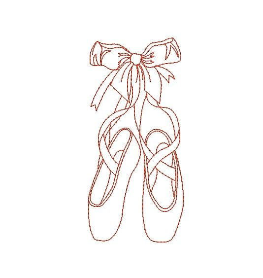 Instant download Machine  Embroidery  Dance shoes by AliceBroderie, $3.00
