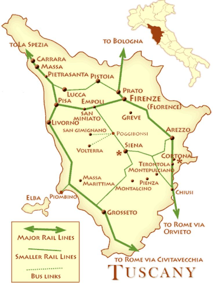 The 25 best italy rail map ideas on pinterest calabria italy how to get around tuscany by train sciox Image collections