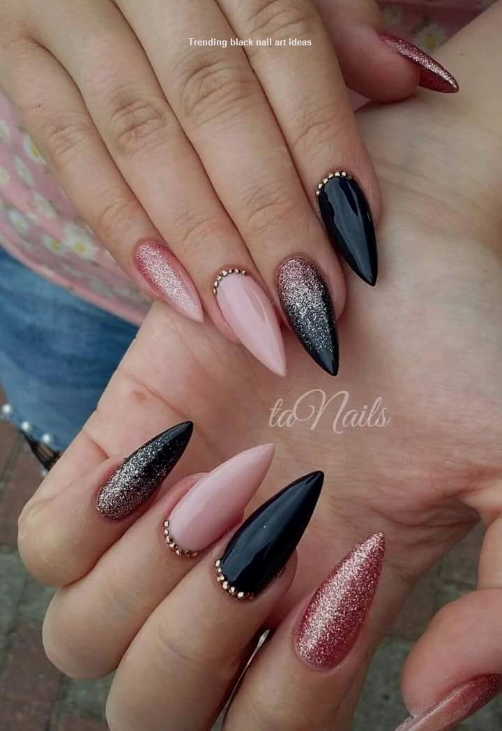 14+ Nail art nero e rosa ideas