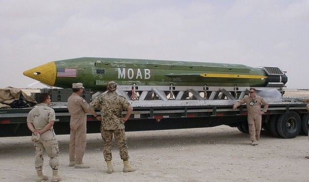 """MOAB, Known as the """"Mother of All Bombs"""" it's technical name is the Massive Ordinance Air Blast. It is the most powerful non-nuclear bomb ever created by the US military."""