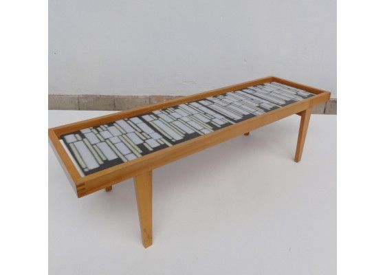 German Mid-Century Ceramic Tile Coffee Table for sale at Pamono