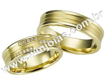 Par de Aliança de noivado e casamento