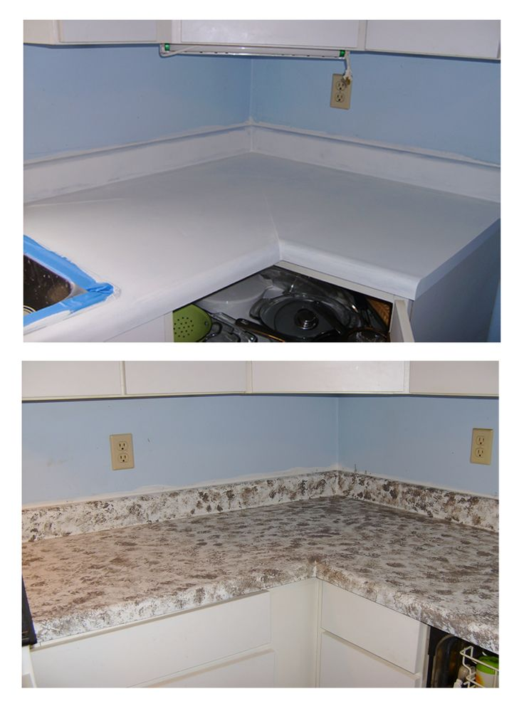 painting the counters to make a faux granite countertop