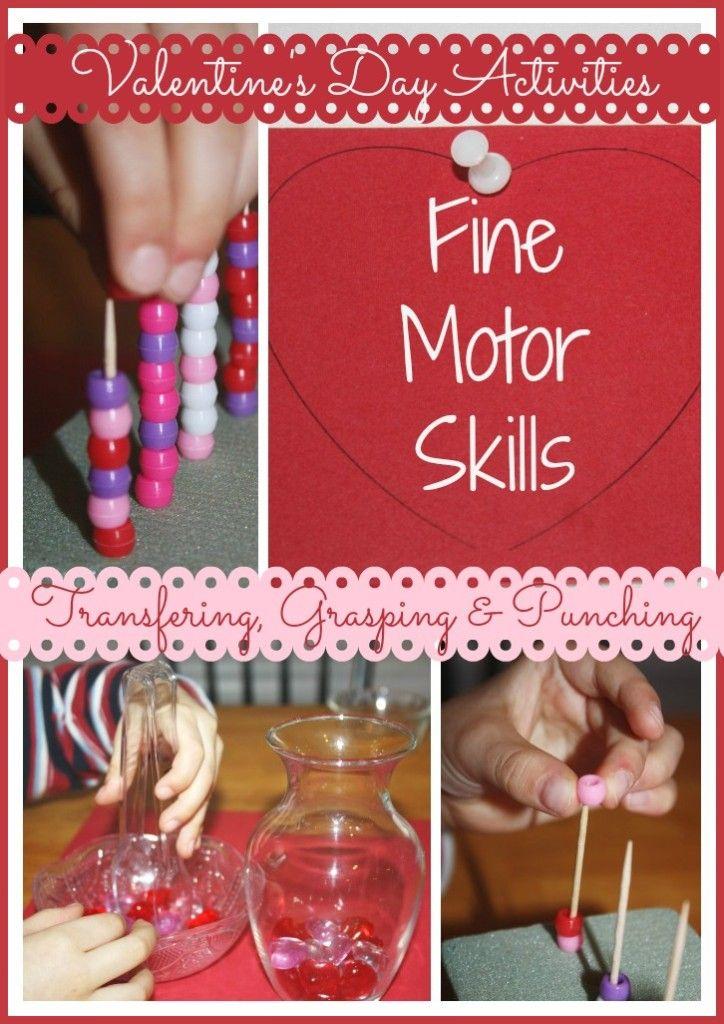 Valentine Fine Motor Skills Activities (from Little Bins for Little Hands)