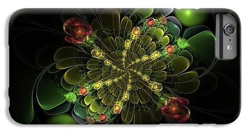Аннотация для iPhone 7 Plus чехол с цифровое искусство Фрактал цветы шары Сергея Носова