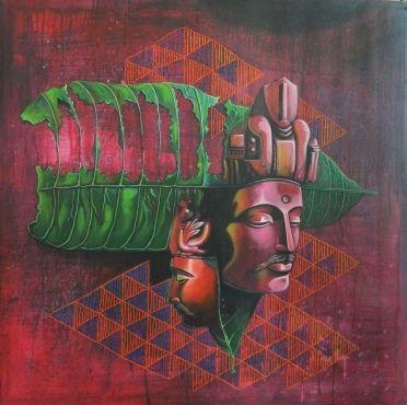 Two Heads of Boddhisattva by Shalini Soni on Artflute.com  #spiritual #paintings #art #divine #homedecor #happywalls #Buddha #peace #tranquility #Nirvana #meditation #goodluck #homedecor #art #wall #NoMoreEmptyWalls