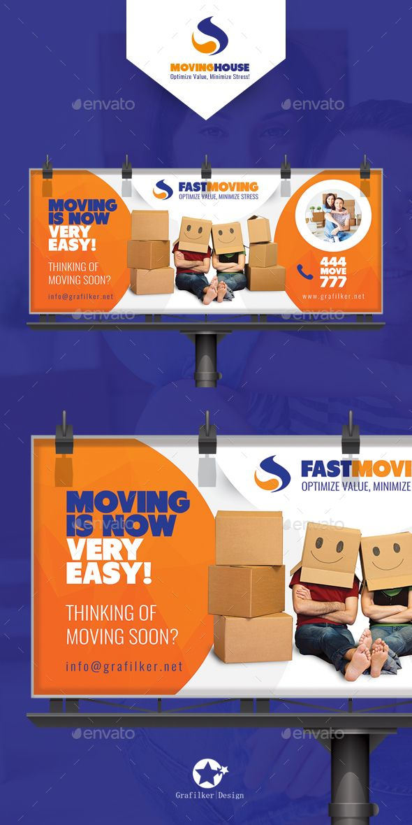Moving House Billboard Templates - #Signage Print Templates Download here: https://graphicriver.net/item/moving-house-billboard-templates/19377481?ref=alena994