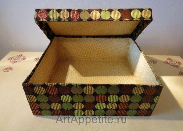 декорирование коробки из-под обуви