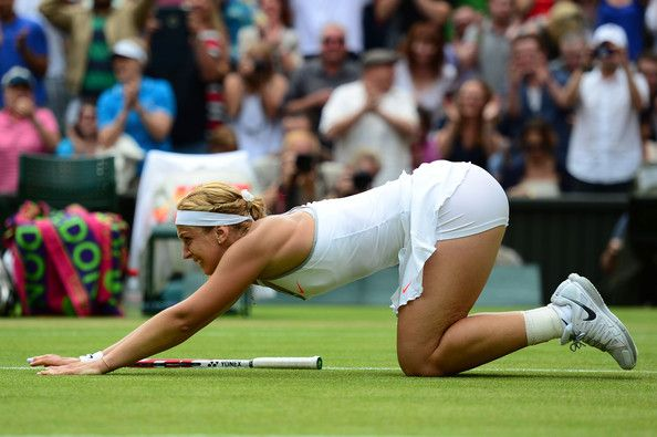 Sabine Lisicki Photos - Sabine Lisicki of Germany celebrates match point during her Ladies' Singles fourth round match against Serena Williams of United States of America on day seven of the Wimbledon Lawn Tennis Championships at the All England Lawn Tennis and Croquet Club on July 1, 2013 in London, England. - Sabine Lisicki Photos - 1440 of 2328
