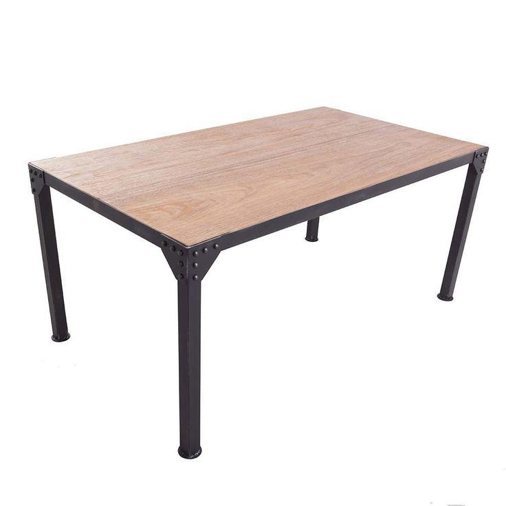 Mesa de jantar, estrutura em metal, tampo em madeira. Pode ser feita em outras dimensões - consulte. Fabricação Ignis Industrial.Dimensões: Largura 170 cm   Profundidade 95 cm   Altura 75 cm.