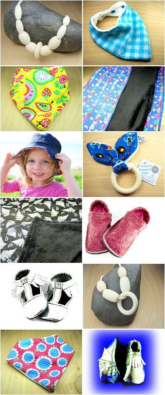 Bibs, Moccasins, Teethers, Blankets, Comforters, Nursing necklaces, Hats, Baby.