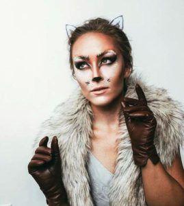 fox makeup in halloween makeup