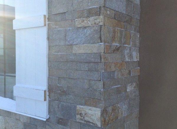 NSVI Nickel Ledgestone natural stone by Meerkerk Masonry for Van Arbor Homes