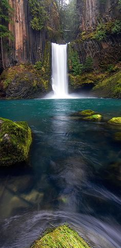 Toketee Falls ~ Oregon this one should be easier to get to.