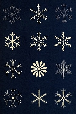 1863 The Book of Nature ~ 'Snowflakes'