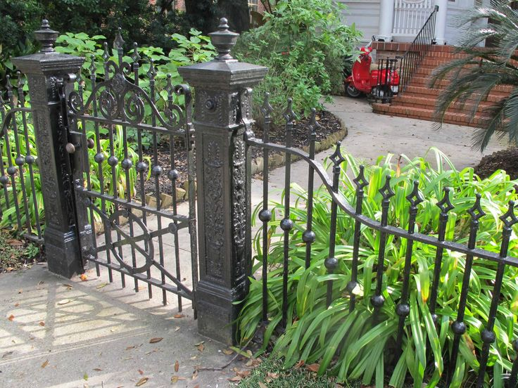 New Orleans Wrought And Cast Iron Gate Black Garden