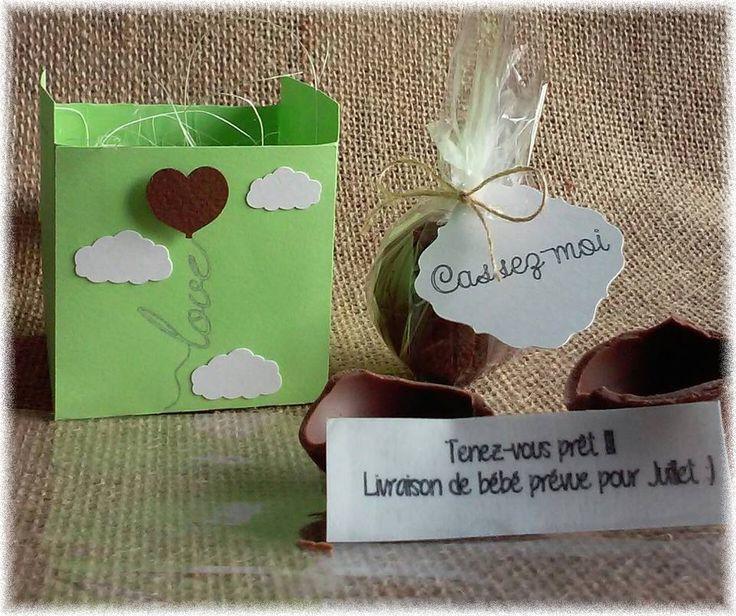 annonce grossesse originale boule chocolat surprise : Faire-part par lydaurel-evenements