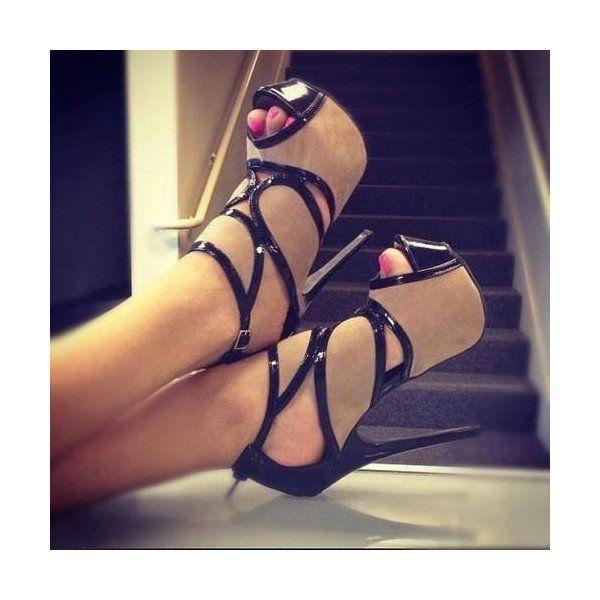 Women's Brown Elegant Platform Stiletto Heels Pumps Shoes for Night club, Music festival | FSJ