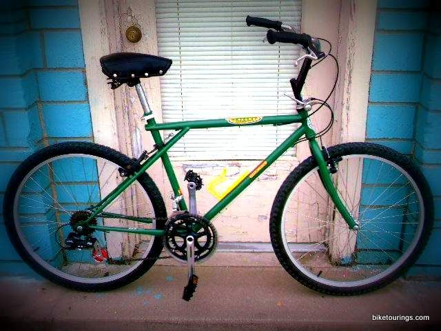 Picture of restored GT mountain bike for bicycle commuting