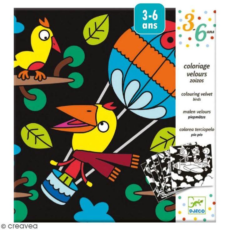 Compra nuestros productos a precios mini Colorear terciopelo - Pajarillos - 5 tableaux - Entrega rápida, gratuita a partir de 89 € !