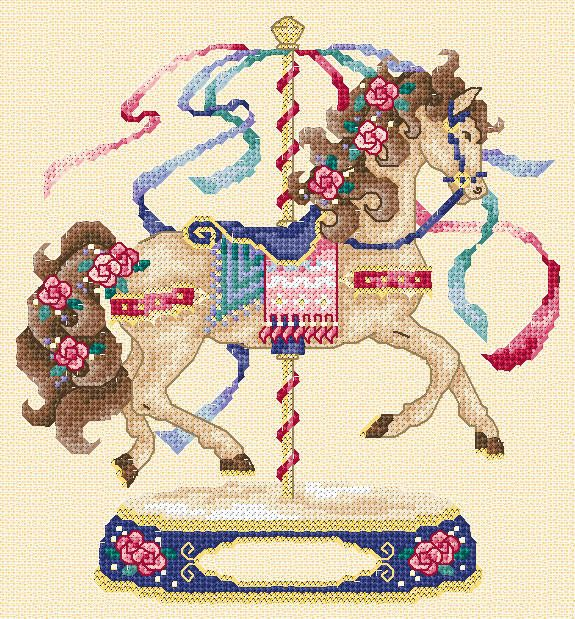 Maria Diaz Designs: CAROUSEL HORSE (Cross-stitch chart)