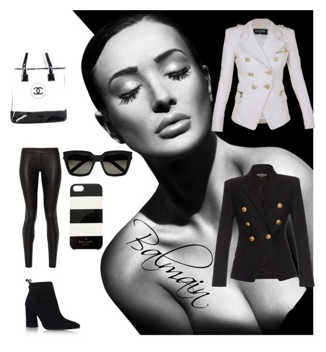 """""""Bal....Love"""" by aliciak60 on Polyvore featuring Balmain, The Row, Stuart Weitzman, Chanel, Yves Saint Laurent and Kate Spade"""