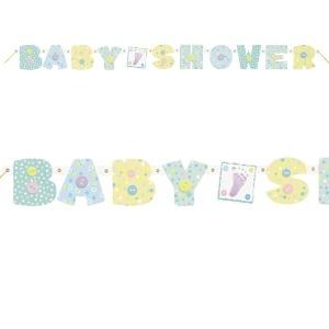 Baby Stitching Baby Shower Banner