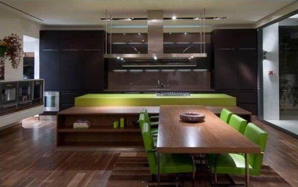 Homesthetics Matthew Perry Bachelor Pad grün Küche