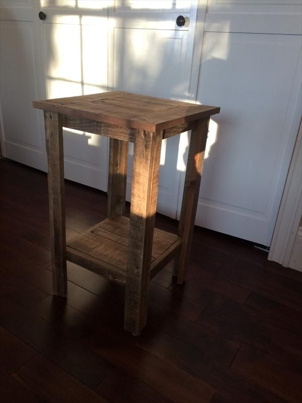 handmade pallet side table and nightstand
