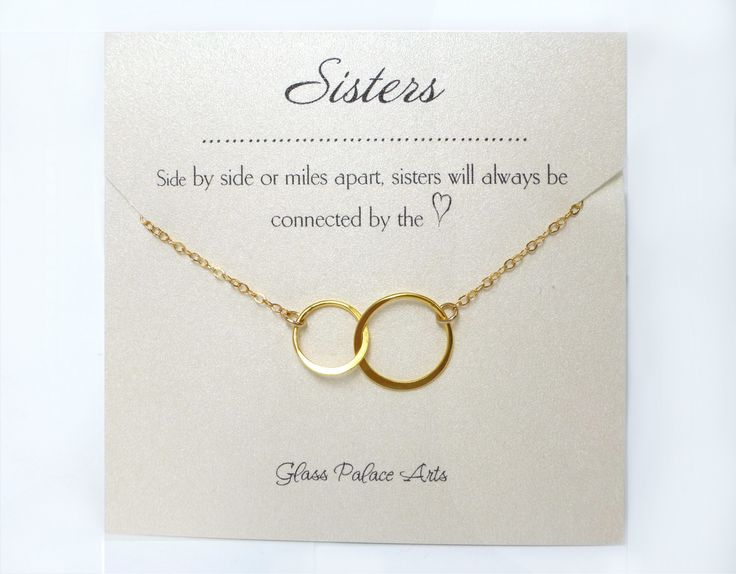 infinity sister necklace