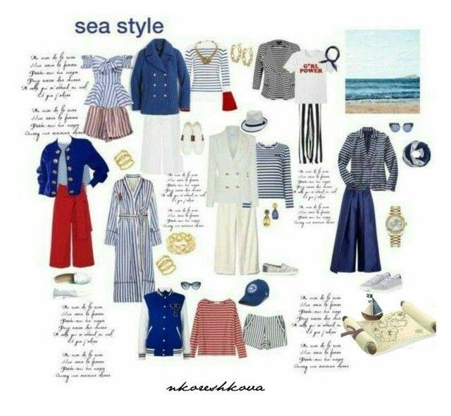 морской стиль by nkoreshkova on Polyvore featuring polyvore fashion style clothing