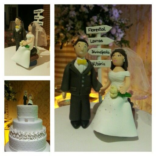 Personalised cake toppers for all occasions.  Bride and groom travelers Made by Marina www.facebook.com/madebmarina