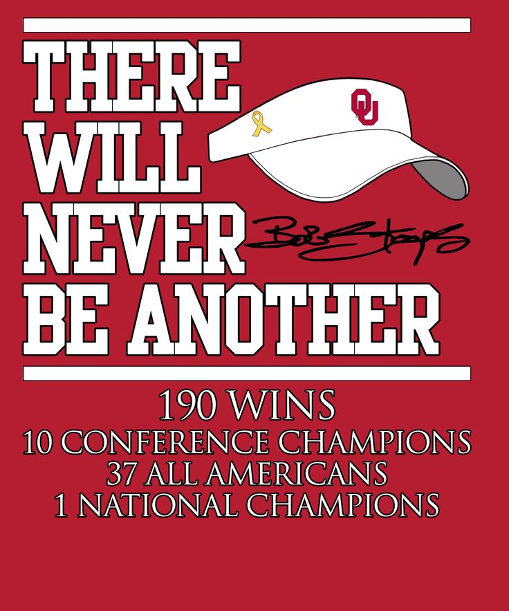 Bob Stoops, There Will Never Be Another!
