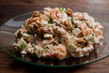 Receita de salada de camaro e kani
