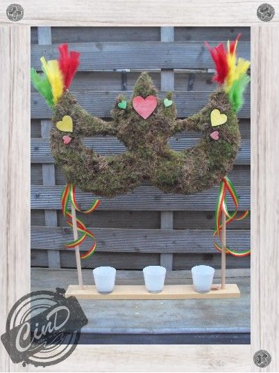 Carnaval decoratie 2014 Homemade by CinD, wooden (& more) handmade wannahaves