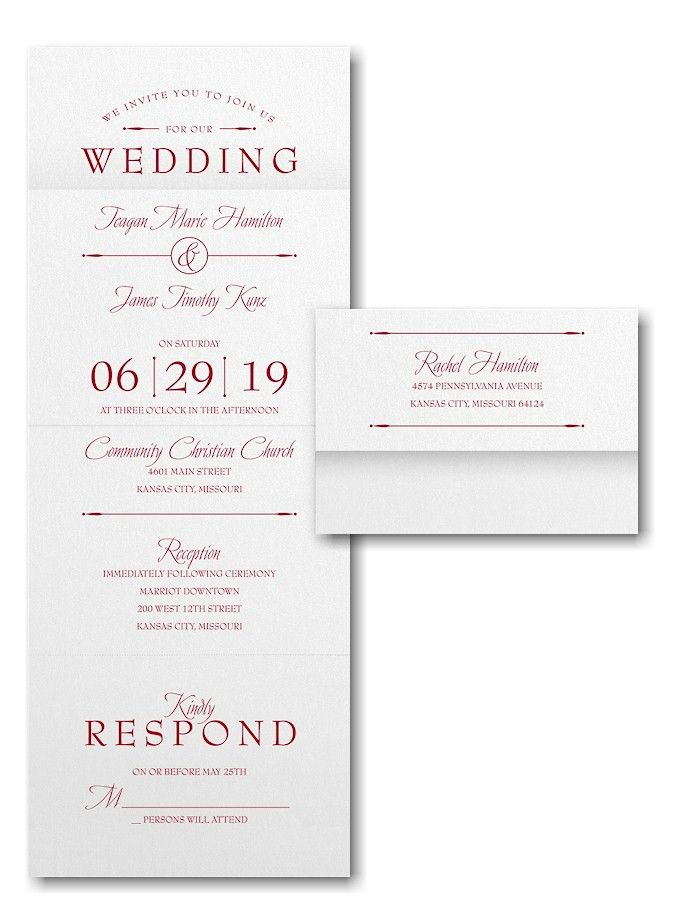 254 best Seal \'N Send Wedding Invitations images on Pinterest