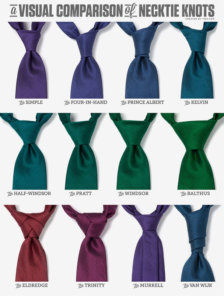 12 necktie knots and how to tie them