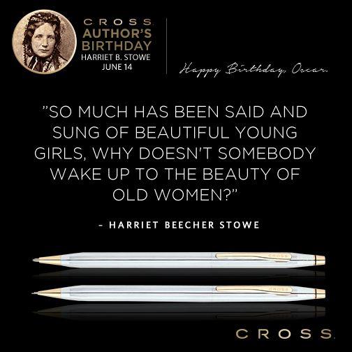 Well said! Happy birthday, #HarrietBeecherStowe.