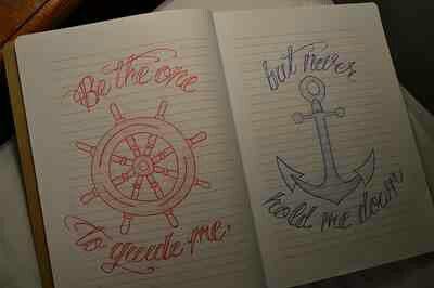 Matching boyfriend and girlfriend tattoos