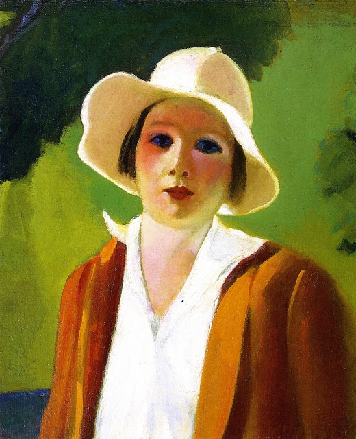 POUL WEBB ART BLOG - George Luks 'Lady with White Hat' 1922