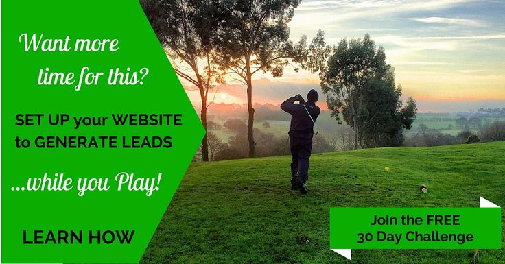 Do you know how to generate leads for your business while you golf? Take our 30 day challenge for FREE now, we will let you in on our secrets.