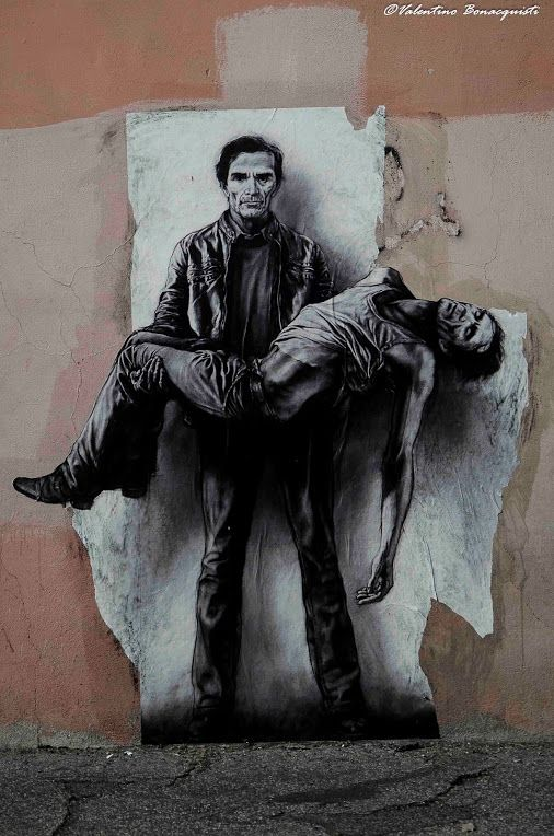 """""""La pietà di Pier Paolo Pasolini"""" Ernest Pignon-Ernest, Roma - Google+"""
