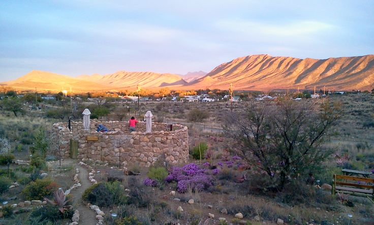 View from Karoo View Cottages stoeps
