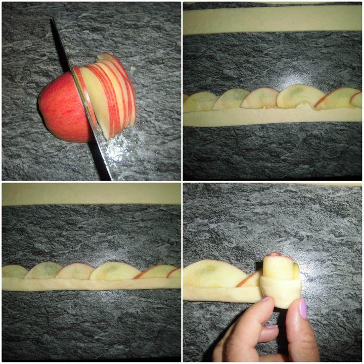 rose di mele e pasta brisè collage