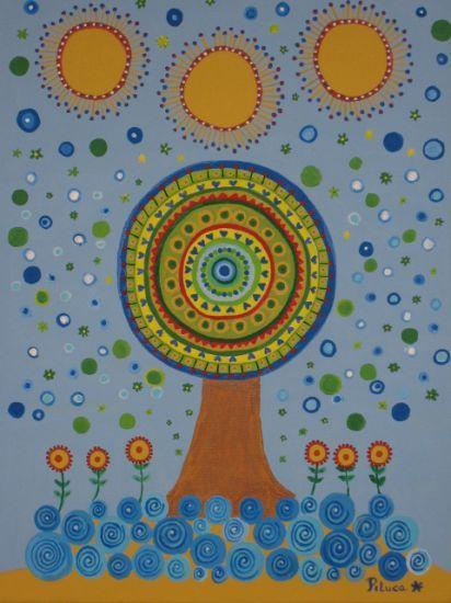 El árbol Mandala: Árbol Mandala, Amazing Art, Art Naif, Tree, Felt Crafts, Artworks, Flowers Felt, Illustrazioni Bellissim, Arte Naive