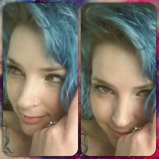 Ion color brilliance Shark blue with Wella cooling violet roots