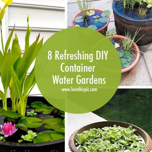 Beste Ideer Om Diy Container Pond På Pinterest - 8 refreshing diy container water gardens