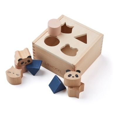 Liewood Mateo Wooden Shapes Box available at Smallable   #Woodentoys