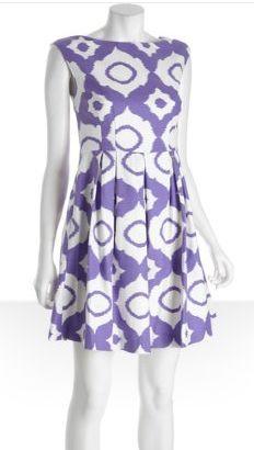 Shoshanna purple ikat dress, on saleGames Day Dresses, Prints Stretch, Dresses Style, Cotton Dresses, Purple Ikat, Ikat Prints, Shoshanna Purple, Cotton Alyce, Ikat Dresses