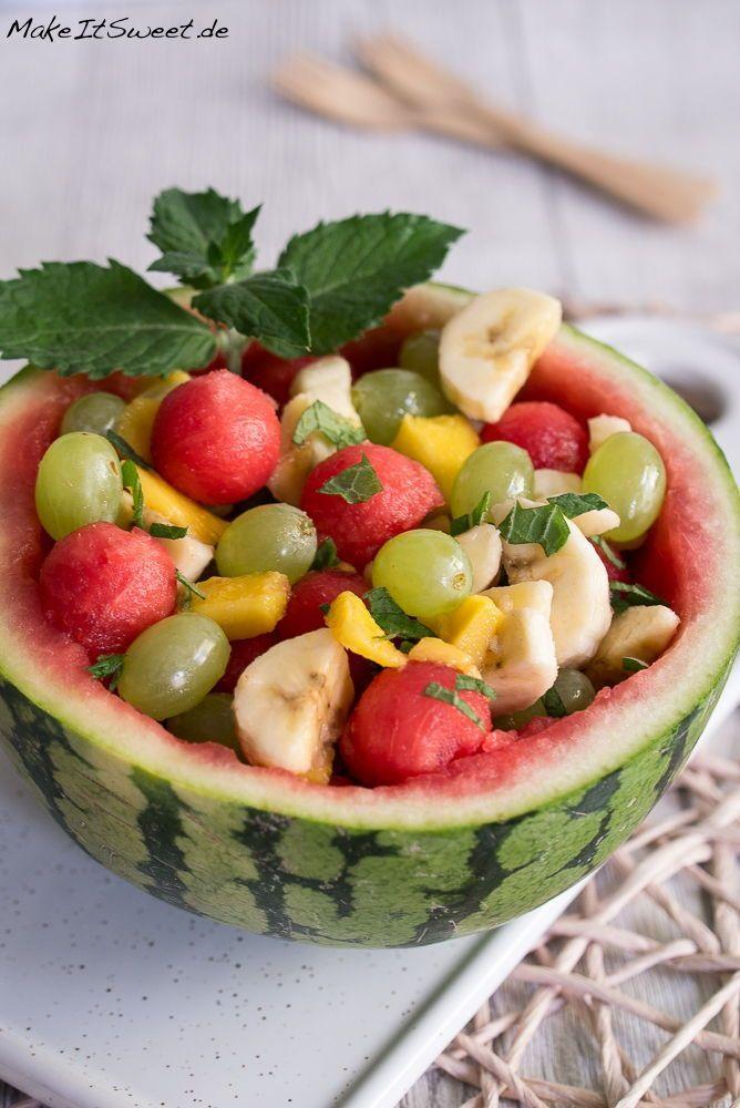 Wassermelonen Obstsalat Rezept